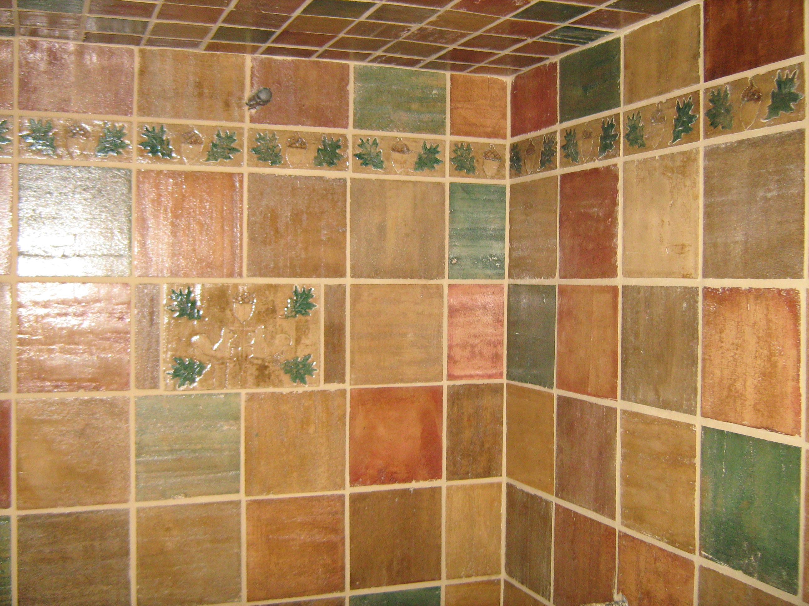Arts and crafts tile pictures cottage craft tile hand for Arts crafts tiles