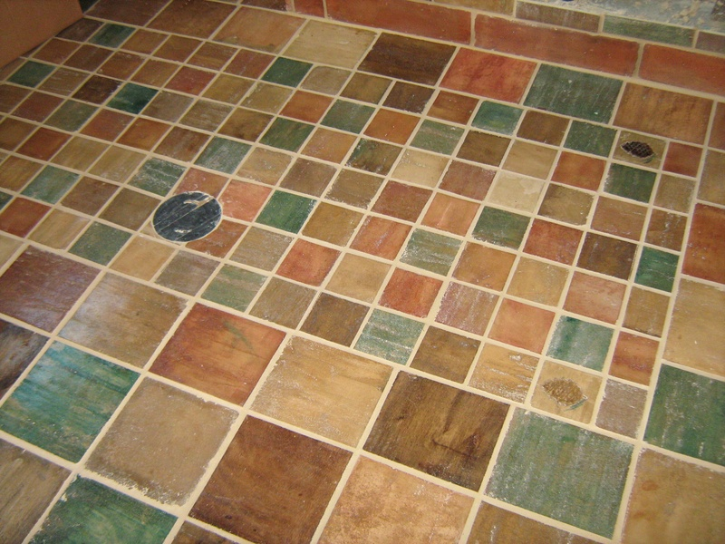 Arts and crafts tile pictures cottage craft tile hand for Arts and crafts floor tile